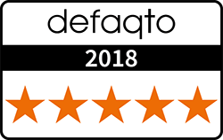 Defaqto 2018 badge