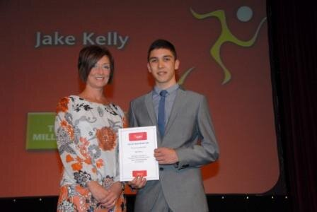 Jake Kelly Receives his Scholarship for a 2nd Year