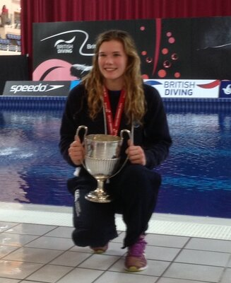 Thomas Miller Investment sponsored diver wins her first senior national diving title