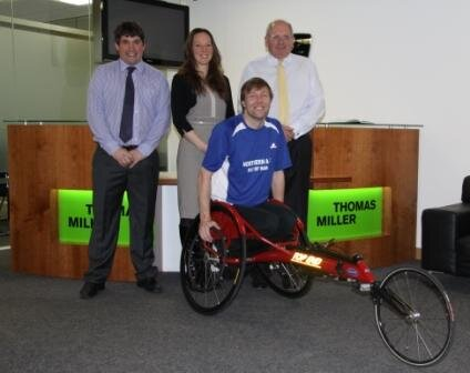 Thomas Miller (Isle of Man) Limited Support Wheelchair Athlete Darren Kennish