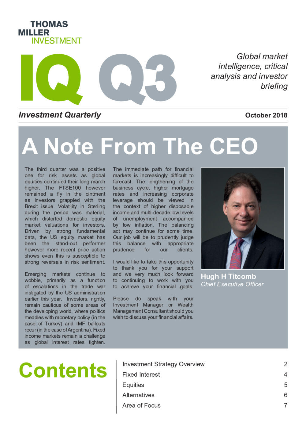 Investment Quarterly Q3 2018