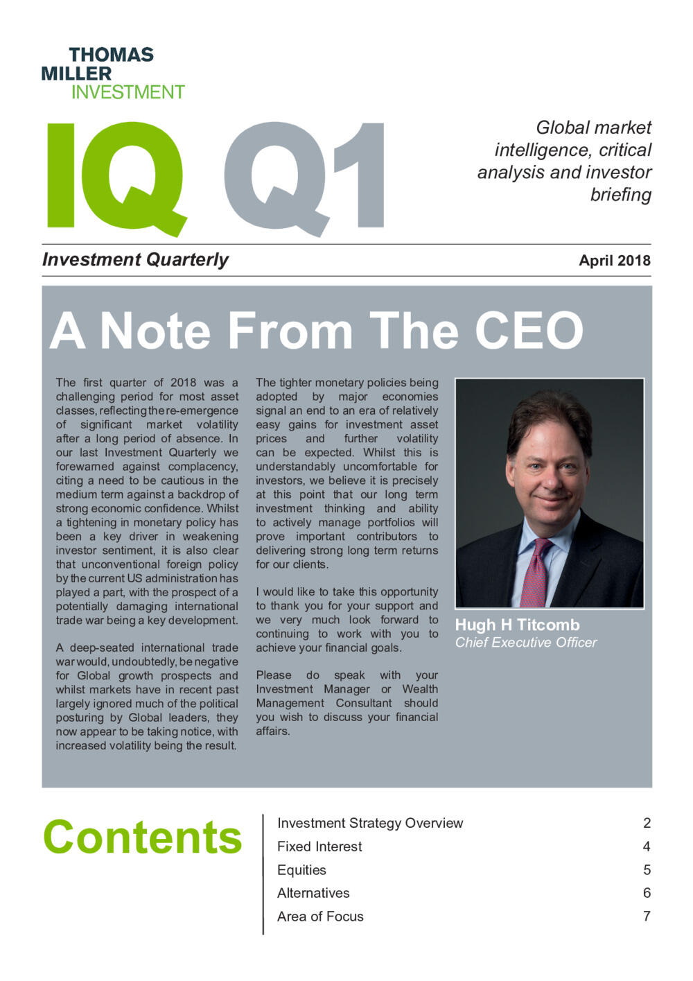 Investment Quarterly Q1 2018