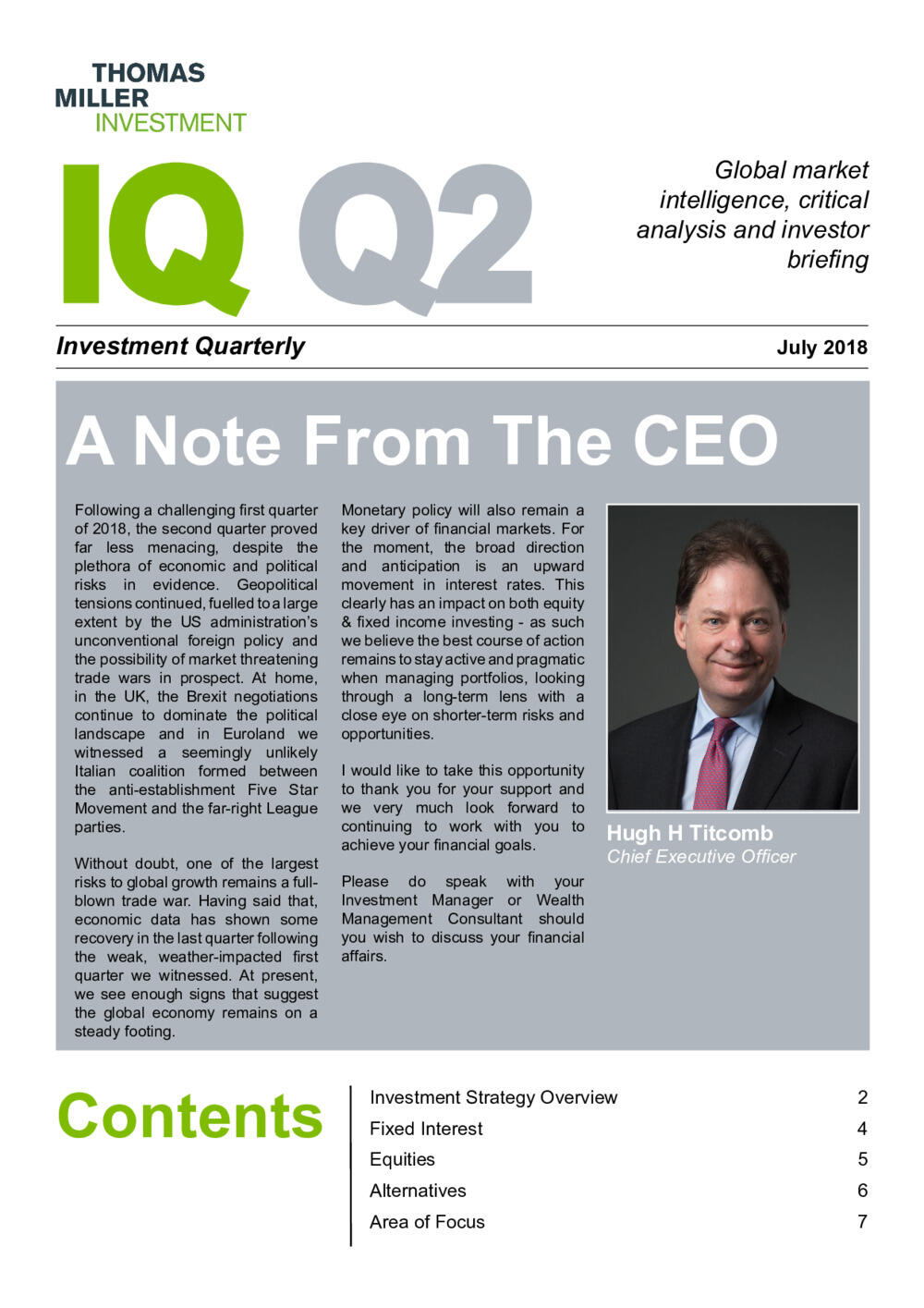 Investment Quarterly Q2 2018