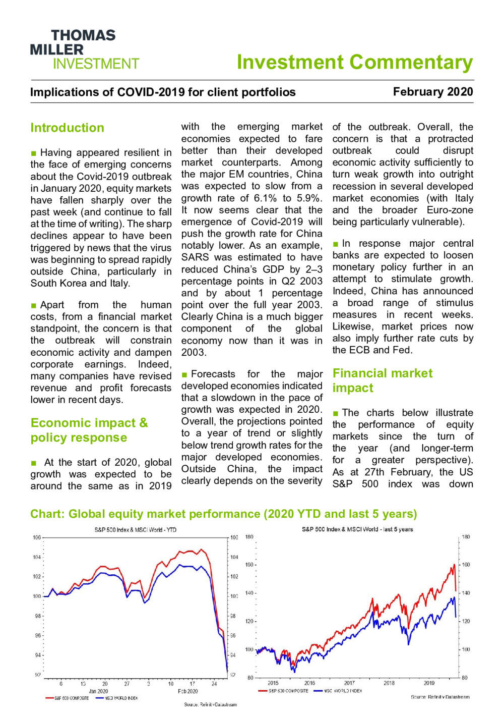 Investment Commentary - COVID-19 Impact - Feb 2020