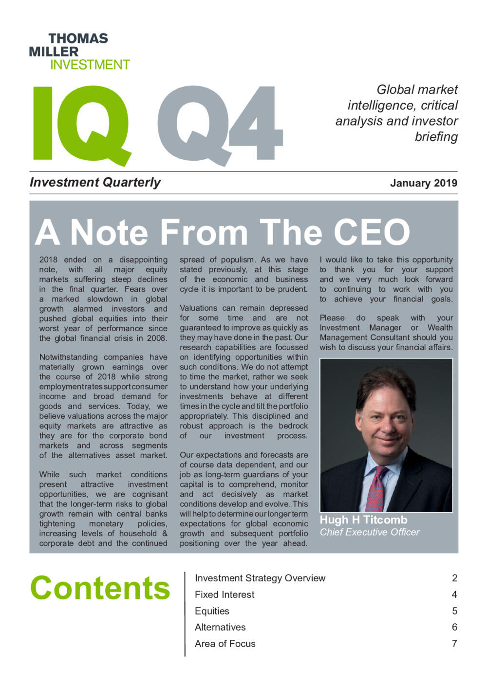 Investment Quarterly Q4 2018
